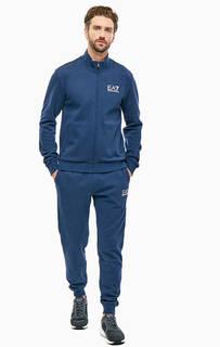 Хлопковый костюм из толстовки и брюк EA7