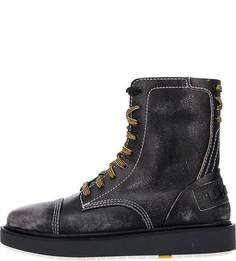 Высокие ботинки из натуральной кожи Diesel