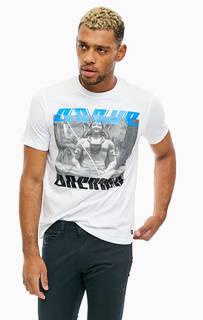 Хлопковая футболка с принтом Diesel