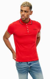 Красная футболка поло из хлопка Diesel