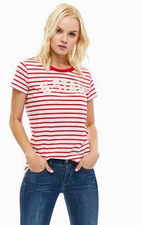 Хлопковая футболка в полоску G Star RAW
