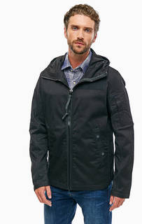 Черная хлопковая куртка с капюшоном G Star RAW