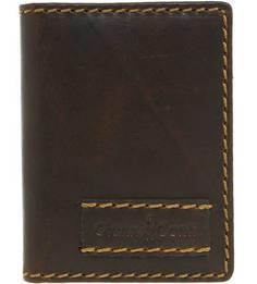 Кожаная визитница коричневого цвета Gianni Conti
