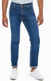 Зауженные синие джинсы с пятью карманами Deauville Pierre Cardin