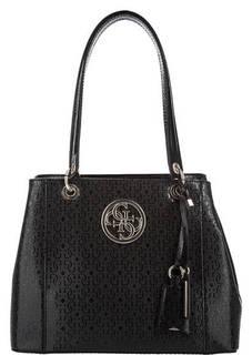 Черная сумка с длинными ручками Guess