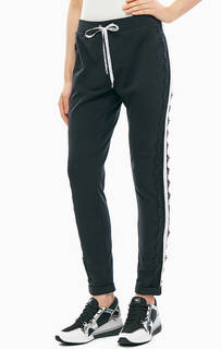 Хлопковые брюки с нашивками Liu Jo Sport