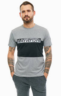 Хлопковая футболка с логотипом бренда Napapijri