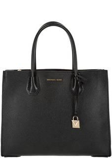 Кожаная сумка с двумя отделами Mercer Michael Michael Kors