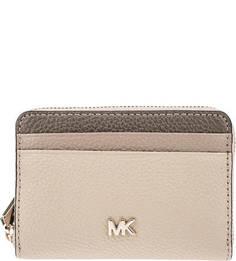 Маленький бежевый кошелек из зерненой кожи Money Pieces Michael Michael Kors