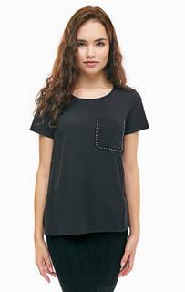 Однотонная футболка с короткими рукавами Liu Jo