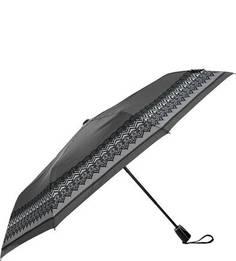 Серый складной зонт со стальным стержнем Doppler