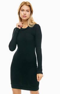 Черное платье из мериносовой шерсти Michael Michael Kors
