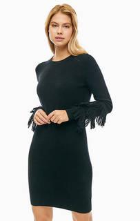 Черное платье с высоким содержанием шерсти Michael Michael Kors
