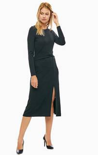 Черное платье с расклешенной юбкой Michael Michael Kors