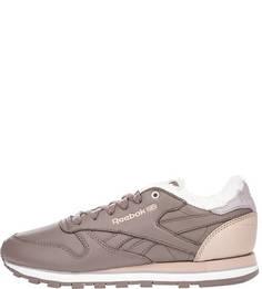 Утепленные кроссовки из натуральной кожи Reebok Classic