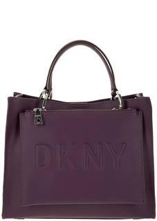 Сумка фиолетового цвета с дополнительной маленькой сумкой Dkny