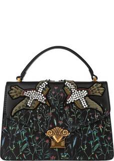 Маленькая сумка черного цвета с цветочным принтом Tosca BLU
