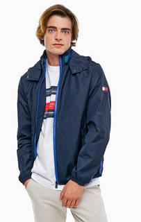 Синяя куртка с принтом и нашивкой Tommy Hilfiger