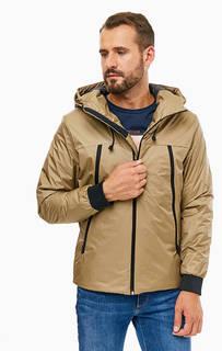 Бежевая демисезонная куртка с капюшоном Jack & Jones