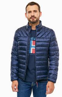 Демисезонная синяя куртка на молнии Napapijri