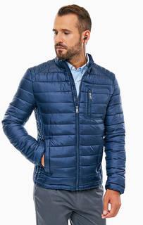 Демисезонная куртка синего цвета с дополнительными наушниками Guess