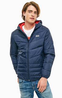Синяя куртка с капюшоном Jack & Jones