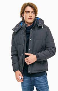 Черная демисезонная куртка с капюшоном Jack & Jones