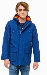 Синяя хлопковая куртка с карманами Pepe Jeans