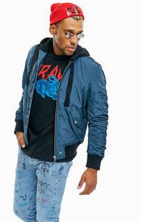 Демисезонная куртка бомбер со съемным капюшоном Diesel