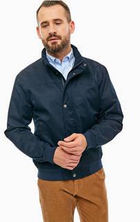 Синяя куртка на молнии и кнопках Gant