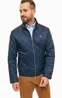 Синяя куртка с карманами Gant