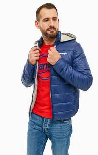 Синяя куртка с флисовой вставкой на воротнике Wrangler