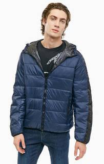 Синяя куртка с логотипом бренда Armani Exchange