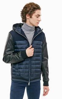Синяя куртка с шерстяными вставками Armani Exchange