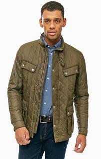 Стеганая куртка цвета хаки с застежкой на молнию и кнопки Barbour