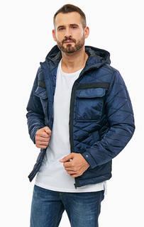 Синяя куртка с контрастными вставками Jack & Jones