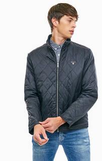 Черная куртка на молнии Gant