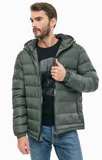 Короткая демисезонная куртка цвета хаки на молнии Blend