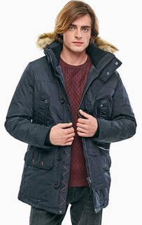 Удлиненная куртка синего цвета Tom Tailor
