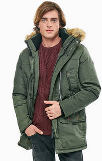 Удлиненная куртка цвета хаки Tom Tailor