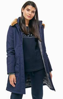 Удлиненная синяя куртка с капюшоном Marc Opolo
