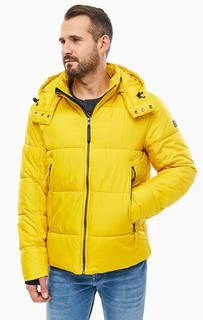 Желтая куртка с капюшоном Tom Tailor