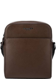 Коричневая кожаная сумка-планшет Harrison Michael Michael Kors
