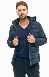 Синяя хлопковая куртка с карманами S.Oliver