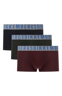 Комплект из трех хлопковых боксеров с широкой резинкой Dirk Bikkembergs