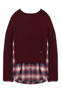 Комбинированный пуловер Dsquared2