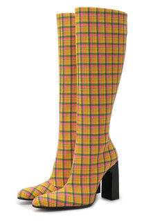 Текстильные сапоги Round на устойчивом каблуке Balenciaga
