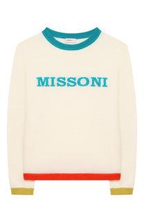 Шерстяной пуловер с отделкой Missoni