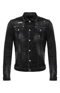 Джинсовая куртка с принтом Dsquared2