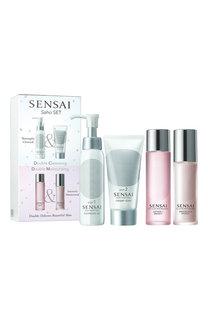 Набор Saho: Очищающее масло + Крем-мыло + Лосьон + Эмульсия Sensai
